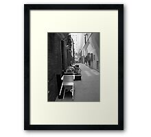 The Laneway Connection Framed Print
