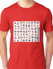 Balls of Yarn - Knitting Watercolor Unisex T-Shirt