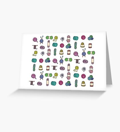 Balls of Yarn - Knitting Watercolor Greeting Card