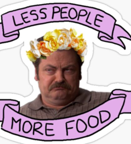 less people; more food Sticker