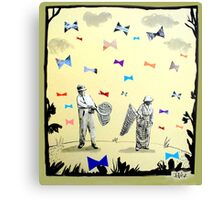 butterflies & bowties Canvas Print