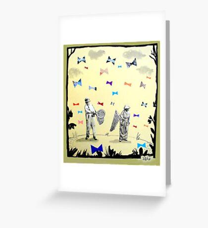 butterflies & bowties Greeting Card