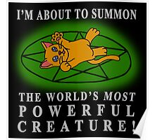 I'm about to summon.... A CAT! Poster