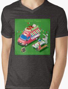 Italian Pasta Food Truck Mens V-Neck T-Shirt