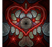Touch My Heart - Red Photographic Print