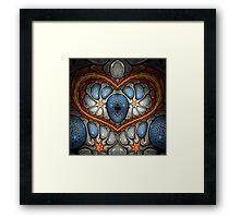 Touch My Heart - Blue Framed Print