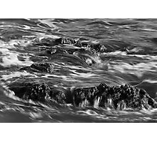 Backwash in Black and White Photographic Print