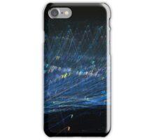 Blue Light trail iPhone Case/Skin