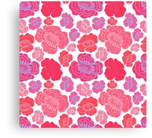 Beautiful pink and red flowers. Canvas Print