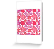 Beautiful pink and red flowers. Greeting Card