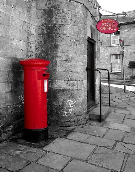 Red Post Box by hootonles