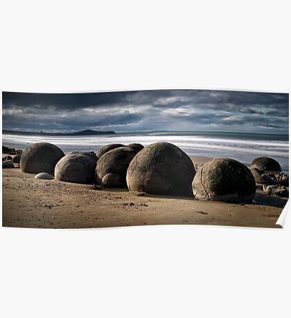 Moeraki Boulders - New Zealand Poster