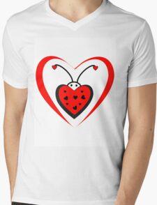 love bug Mens V-Neck T-Shirt