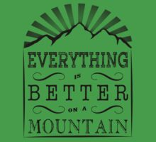 Everything is better on a mountain! One Piece - Short Sleeve