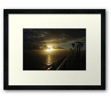 Sunrise approaching Hobart Framed Print