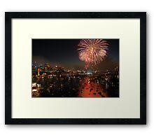 NYE Sydney Harbour Bridge Fireworks Framed Print
