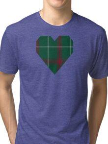 00168 Welsh National District Tartan  Tri-blend T-Shirt