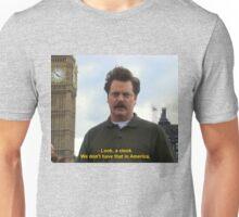 Ron Swanson Hates Europe Unisex T-Shirt