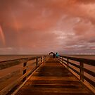 waimea pier at sunset by Flux Photography