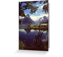 Milford Sound in Fiordland National Park Greeting Card