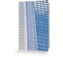 Skyscraper windows Greeting Card