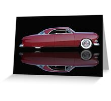 1951 Ford Custom Victoria 'Reflections' Greeting Card