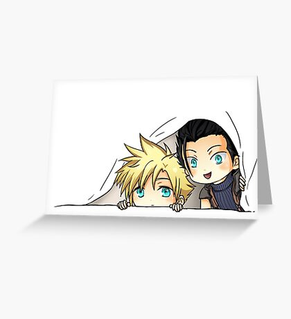 Zack and Cloud Greeting Card