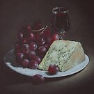 Cheese and Grapes by Alan Stevens