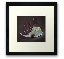 Cheese and Grapes Framed Print