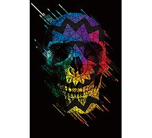 Geometric Art Skull Photographic Print