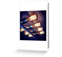 Edison bulbs Greeting Card