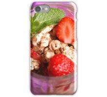 strawberry dessert iPhone Case/Skin