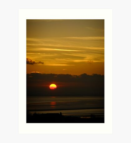 Sunset on River Thames Art Print