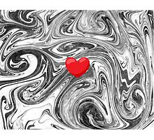 Heart on Marble Photographic Print