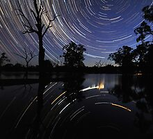 Startrail reflections by Wayne England