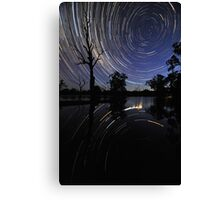 Startrail reflections Canvas Print