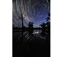 Startrail reflections Photographic Print