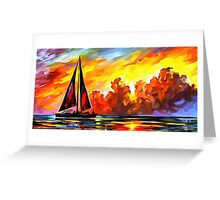 Crimson Clouds Greeting Card