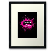 Gamer Chick Framed Print