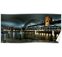 An overcast shot of Harbour Bridge Poster