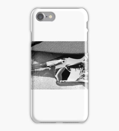 plane on the brain bw iPhone Case/Skin