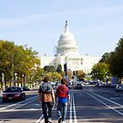 Walking to the Capitol, Washington DC by Ashlee Betteridge