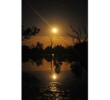 Moonrise reflections Photographic Print