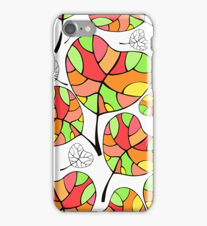 Leaves. Multi-colored leaf. iPhone Case/Skin