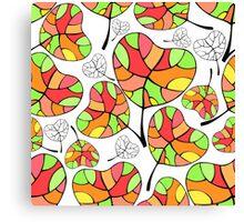 Leaves. Multi-colored leaf. Canvas Print