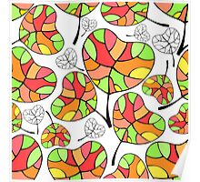 Leaves. Multi-colored leaf. Poster