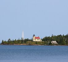 Copper Harbor Lighthouse by Debbie  Maglothin