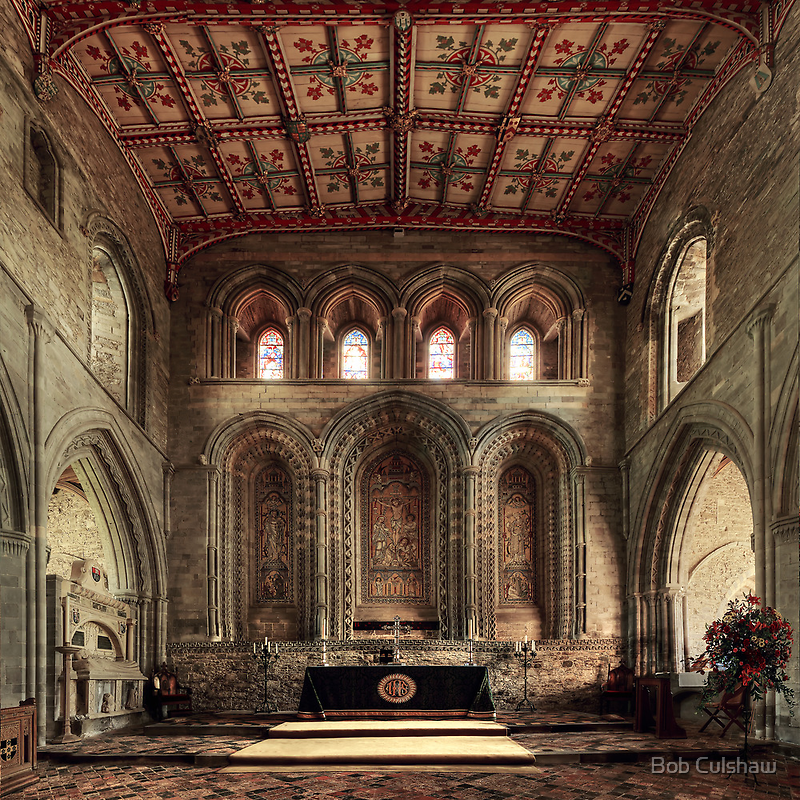 Altar, St David's Cathedral, Pembrokeshire, Wales by Bob Culshaw