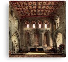 Altar, St David's Cathedral, Pembrokeshire, Wales Canvas Print
