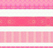 Shades of Pink Tribal  by Greenbaby